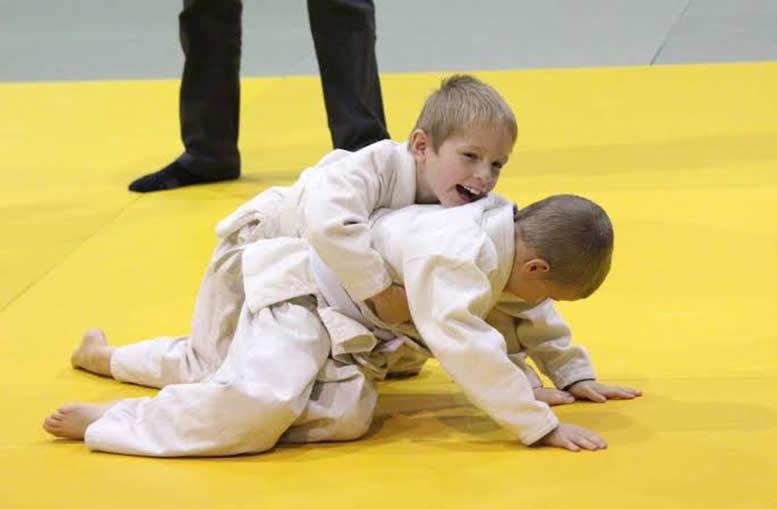 kids play fighting judo