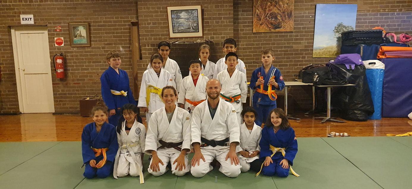 judo matsu kids class group photo